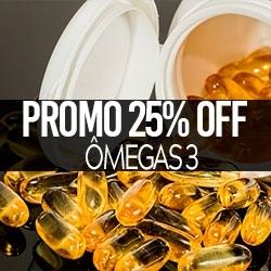 PROMO 25% OFF Ômegas 3