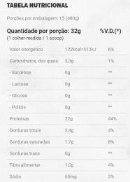 Immuno Golden Whey Pro Glutathione Lata - TABELA